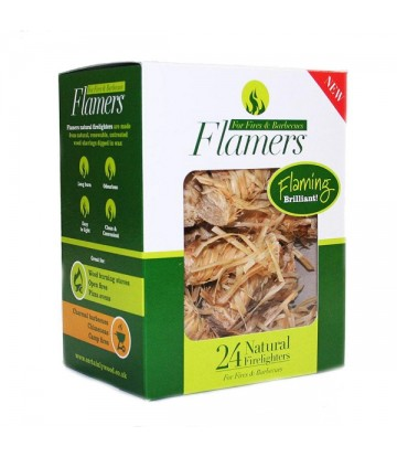 4 boxes of 24 Flamers Natural Firelighters