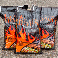 3 x 9kg bags of Lil Devils Smoking BBQ Wood Pellets