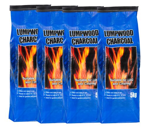 <!-- 001 -->4x 5kg bags of Lumpwood Charcoal - Price Includes VAT & Deliver