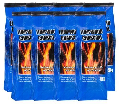 <!-- 003 -->8x 5kg bags of Lumpwood Charcoal - Price Includes VAT & Deliver