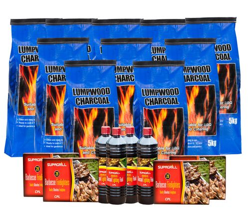 <!-- 015 -->550kg Lumpwood Charcoal Mega Bundle - Price Includes VAT & Deli