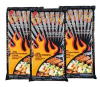 9x 9kg bags of Lil Devils Smoking BBQ Wood Pellets