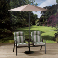 Pagoda Naples Companion Bench With Parasol - Price Includes VAT & Delivery*