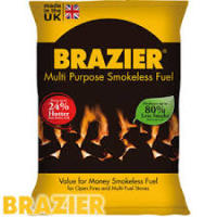 Brazier Smokeless Coal 1000kg of 25kg bags