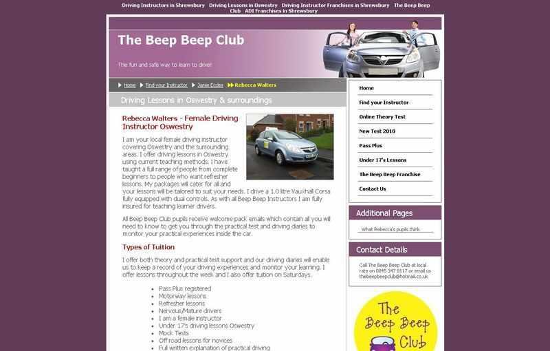 Driving instructor training rebecca