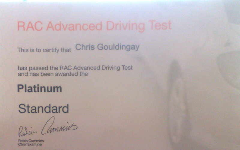 Driving instructor training advanced driving