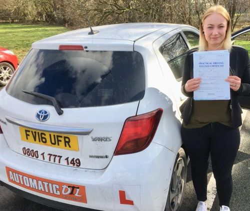 Automatic driving lessons Telford chelsea
