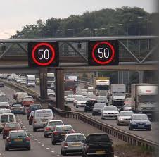 motorway speed signs