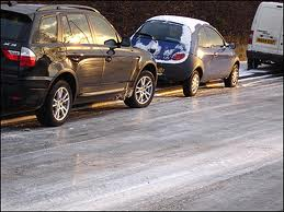 ice on the road
