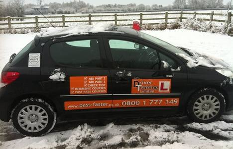 driving lessons snow