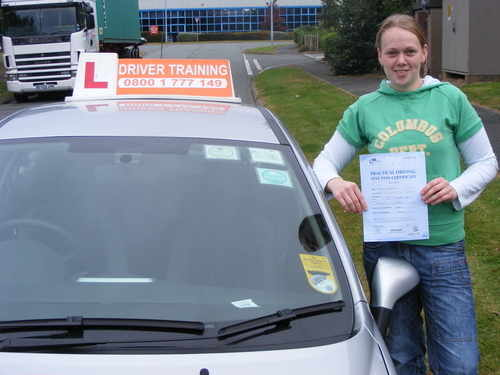 Driving_lessons_telford_nicky passed first time