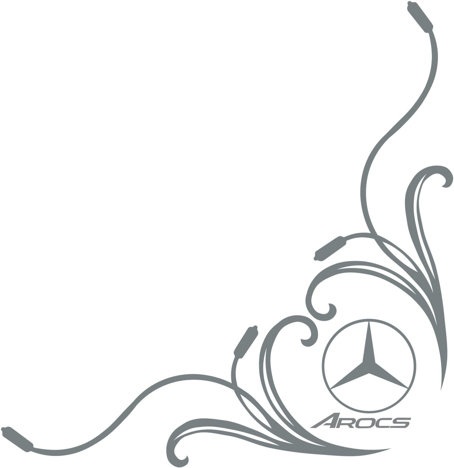Mercedes Benz Stickers Side Window