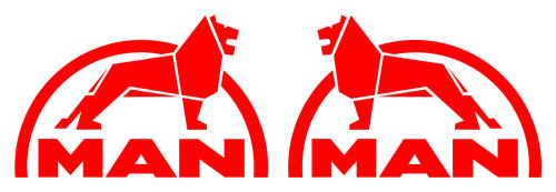Man 2 Truck Stickers ( pair )