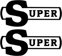 Scania Super logo Bodywork Sticker (Pair)