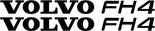 VOLVO FH4 Truck Wind Deflector Stickers ( pair )