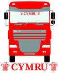 Cymru Truck Screen Sticker