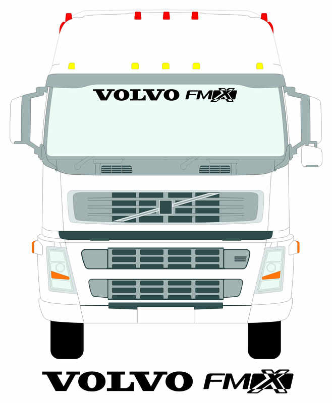 Volvo FMX SMALLER SCREEN WITH TRUCK