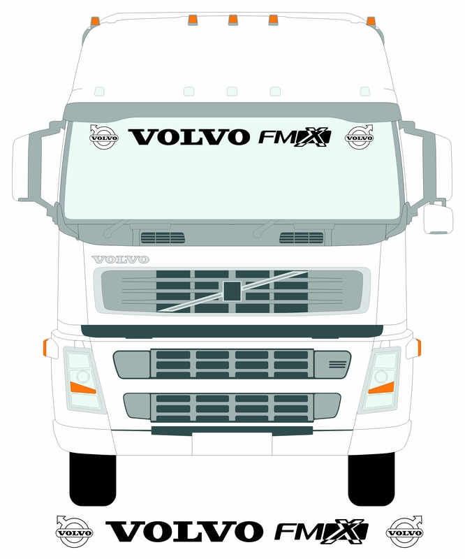 VOLVO FMX larger screen with truck