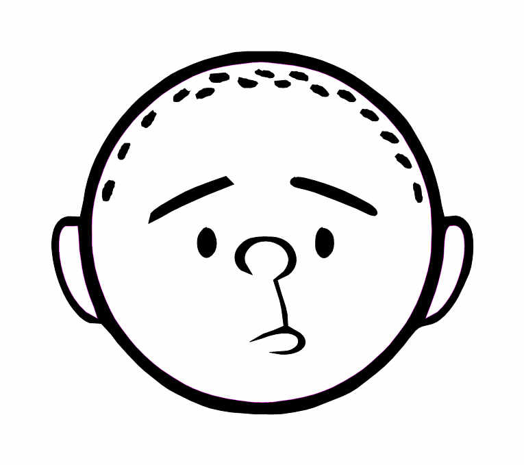 Karl pilkington sticker out line