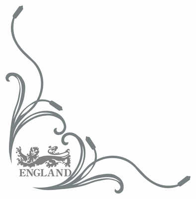 England Lion Truck Side Window Stickers ( pair )