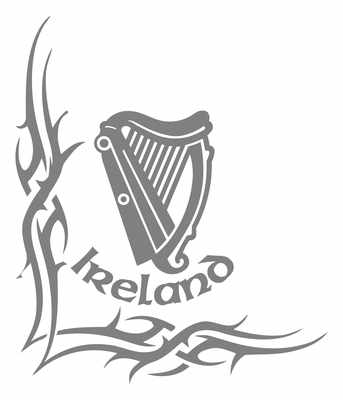 Ireland tribal truck side window stickers pair