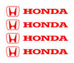 Honda Alloy Wheel Decals x 4