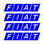 Fiat Alloy Wheel Decals x 4