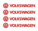 Volkswagon Alloy Wheel Decals x 4