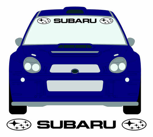 subaru with logo screen