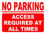 No Parking Access Required At All Times