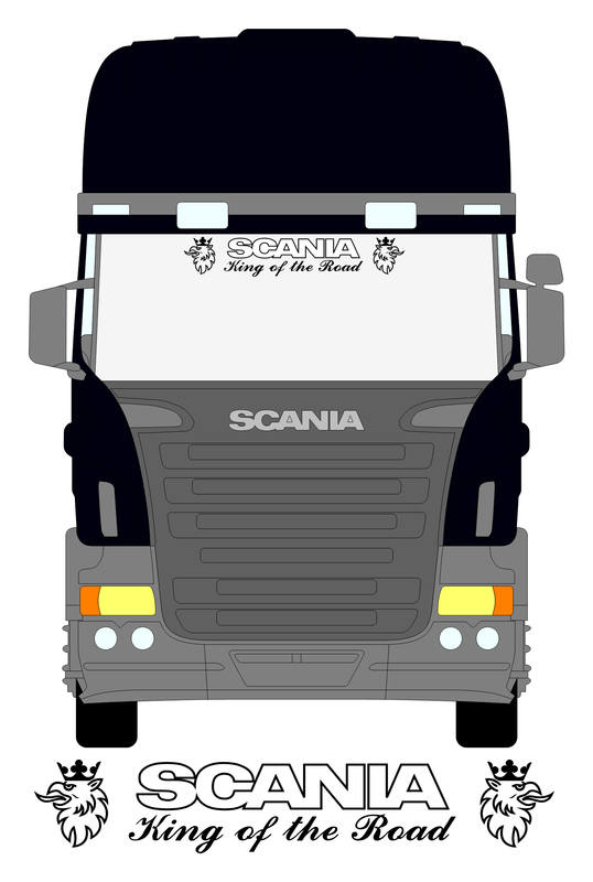 Scania King of the road screen sticker - NWS