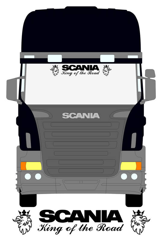 Scania King of the road screen sticker 2 - NWS