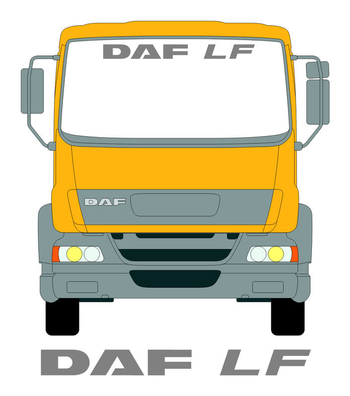 Daf LF Screen Sticker