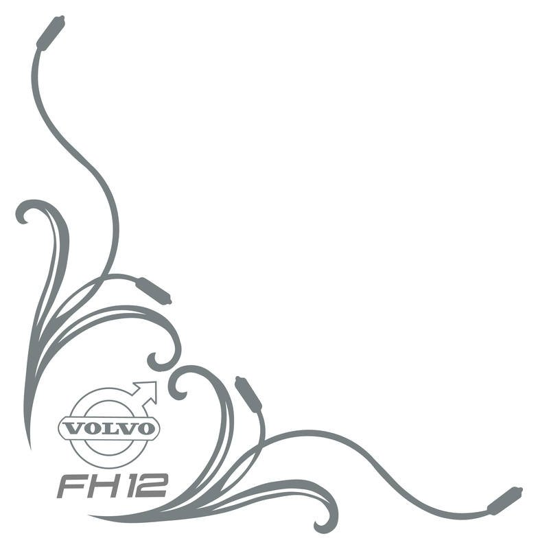 volvo fh12 floral side window stickers