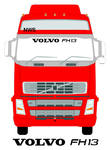 VOLVO FH13 Truck Screen Sticker