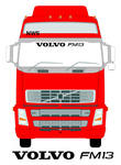 VOLVO FM13 Truck Screen Sticker