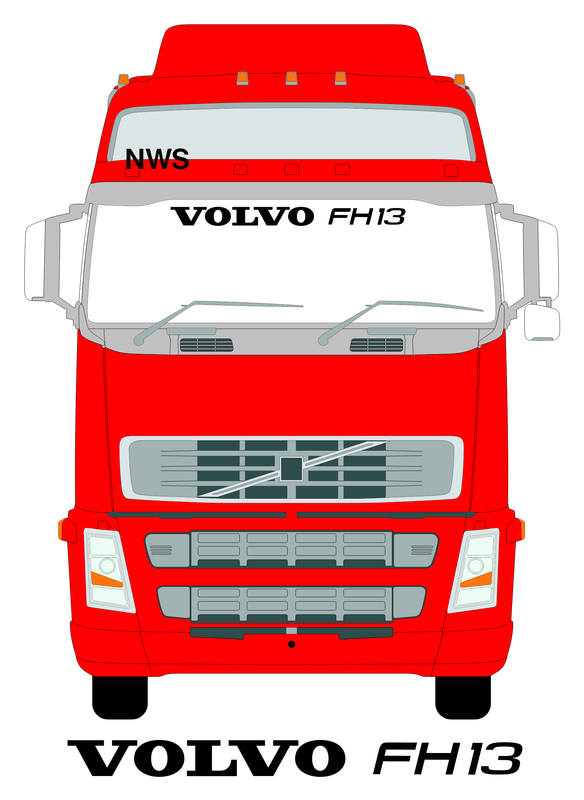 volvo fh13 screen on truck