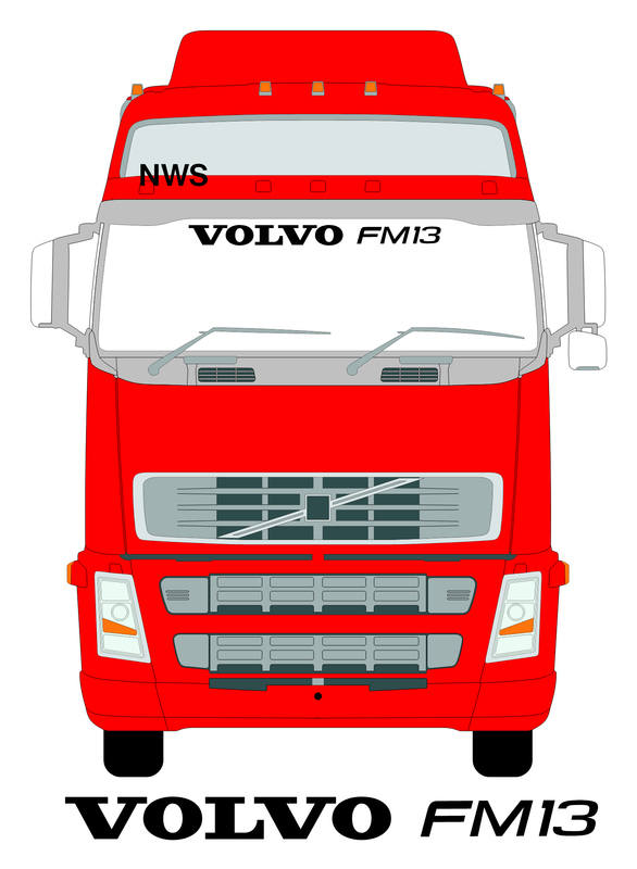 volvo fm13 screen on truck
