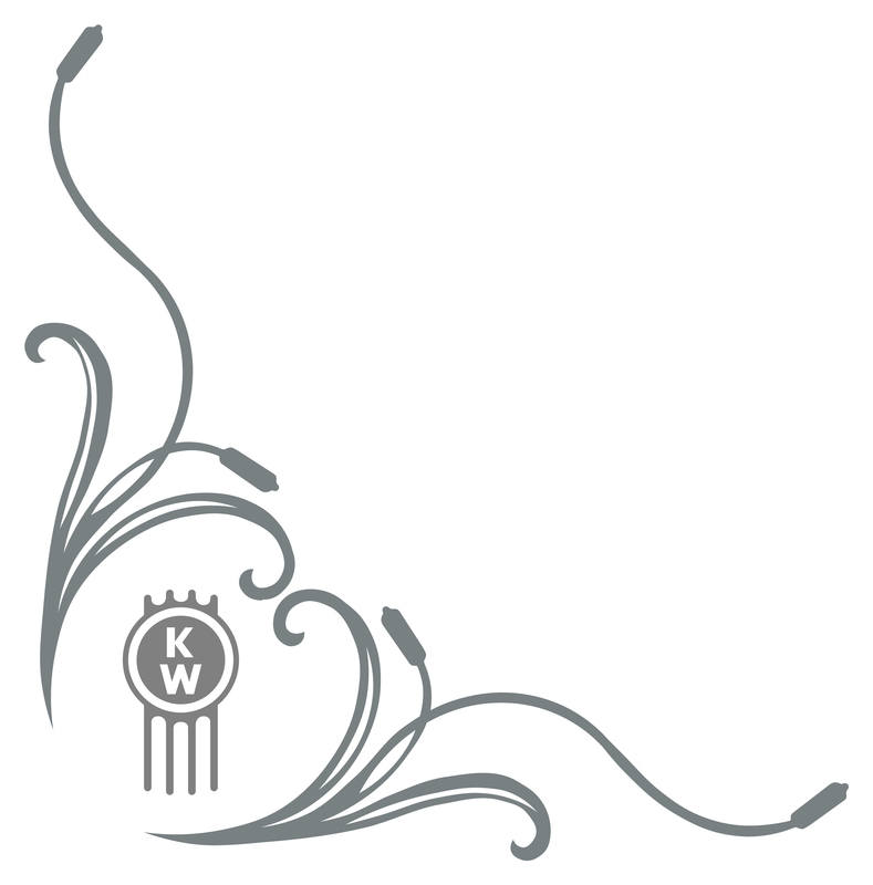 Kenworth logo Floral sides