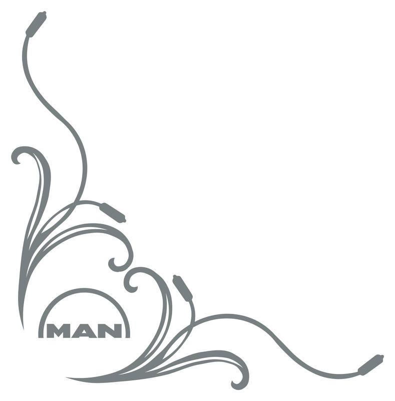 Man Logo floral sides