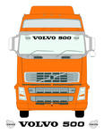 VOLVO 500 Truck Screen Sticker