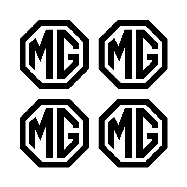 MG wheel logos 4.5 x 4.5 cm
