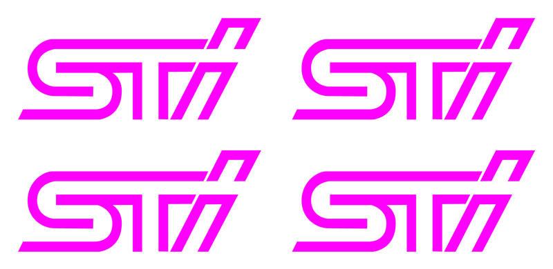 sti wheel stickers