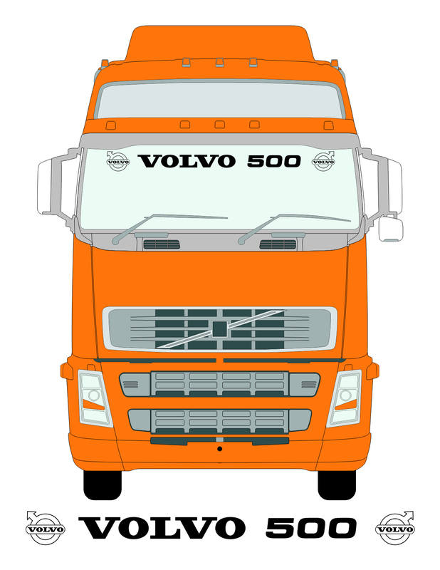 volvo 500 screen on truck