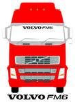 VOLVO FM6 Truck Screen Sticker