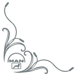 MAN Double Logo Truck Side Window Stickers ( pair )