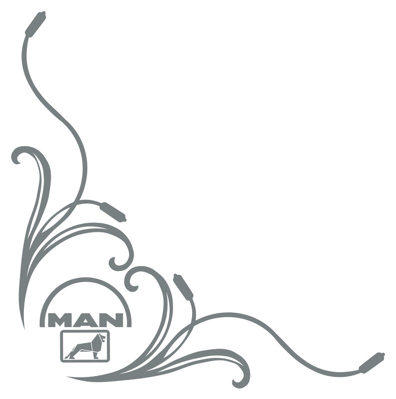 man double logo florals