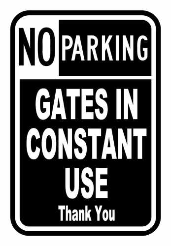 no parking gates in use