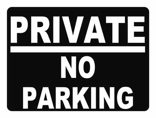 private no parking