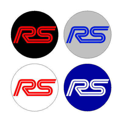 Focus RS Wheel Centre Cap Stickers with backing